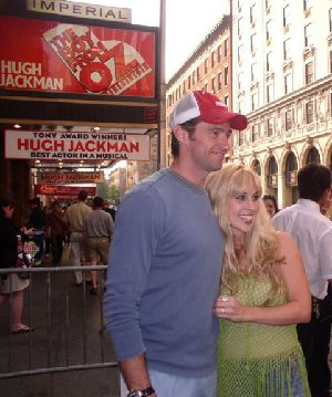 Candice Night with Hugh Jackman