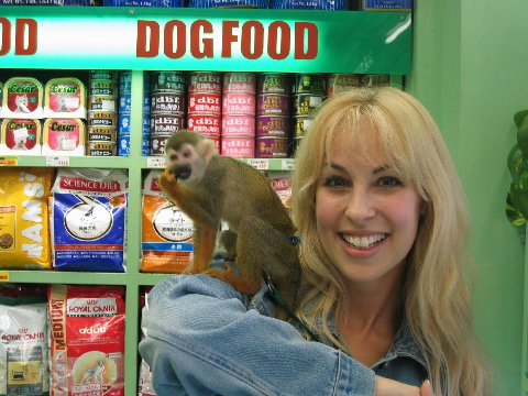 Candice Night with monkey